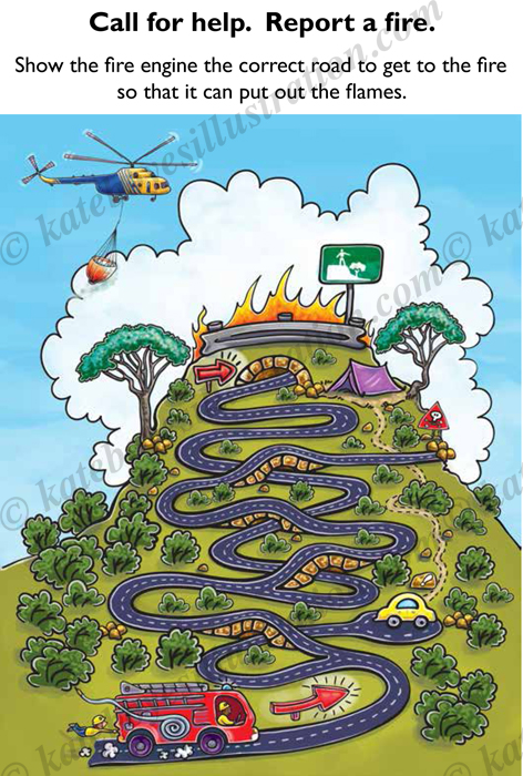 Fire engine maze