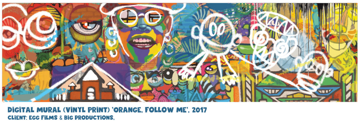 Digital Mural - Orange ' follow me' commercial